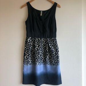 3/$25 SALE Anthropologie Maeve Print Black Dress